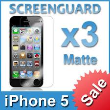 3x Screen Protectors for iPhone 5 / 5G
