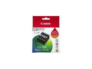 Genuine Canon CLI-526 GY/Y/C/M Genuine Ink Value Pack- 4 Pack