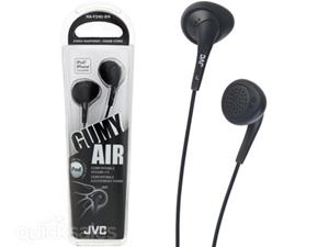 JVC Gummy Black Headphones