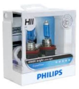 Philips White Vision H11 4300K headlight 12V 55W bulb light