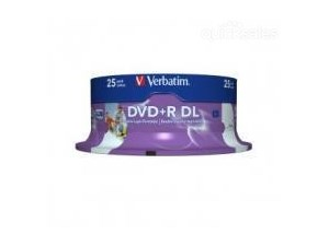 Verbatim DVD+R DL 8.5GB 25Pk White Wide IJ 8x