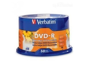 Verbatim DVD-R 50pk Spindle White Printable