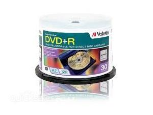 Verbatim DVD+R 4.7GB 30Pk Lightscribe 16x Speed